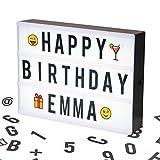 Cosi Home A4 Lightbox, Lichtbox, Leuchtkasten mit 100 Buchstaben, Emojis und Symbolen - zum...