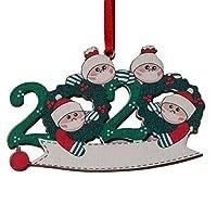 祝福木製マスク雪だるまクリスマスツリーハンギングペンダントクリスマスオーナメントパーソナライズ Diyの名前
