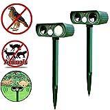 Generic Solar Power Ultrasonic Animal Repellent Deterrent Dog/Cat/Bird/Mole Pir Motion Repeller Garden Supplies