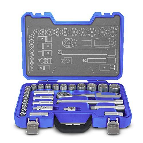 Preisvergleich Produktbild Michelin 602010050 Steckschlüsselsatz,  Nusskasten,  Ratschenkasten Set