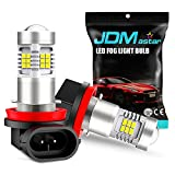 JDM ASTAR Bright White PX Chips H11 H16 LED Fog Light Bulbs with Projector