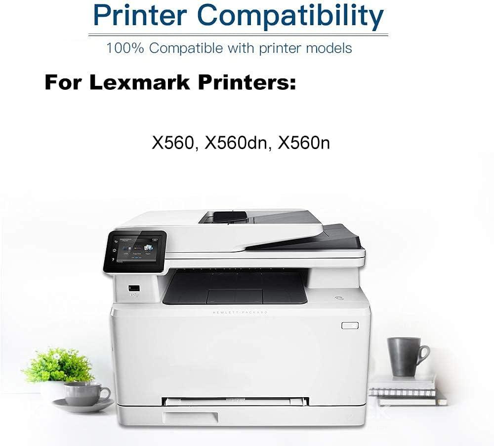 2-Pack (Cyan) Compatible High Yield X560H2CG Printer Toner Cartridge use for Lexmark X560 X560dn X560n Printers