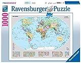 Ravensburger Puzzle 1000 Piezas, Mapamundi político, Colección Fotos y Paisajes, Puzzle Mapamundi, Puzzle para Adultos, Rompecabezas Ravensburger de Alta Calidad