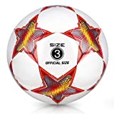 YANYODO Ballon de Football Taille 3,4,5 pour Enfant/Adultes Ballons Match Football