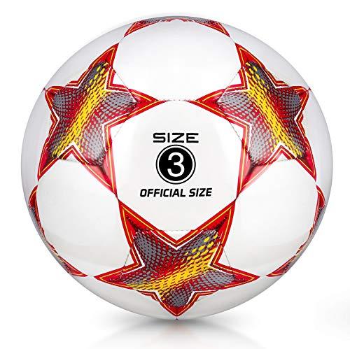 YANYODO Fußball Trainingsfußball Größe 3, 4, 5 für Kind/Jugend/Erwachsener, Outdoor/Indoor-Spiel Ball