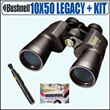 Bushnell 12-0150 10X50 Legacy WP Wide Angle Binoculars + Accessory Package - Bushnell ABUS10X50LYNK1