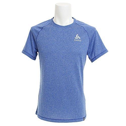 Odlo BL Top col Ras du Cou pour Homme S/S Aion Plain T-Shirt M Energy Blue Melange