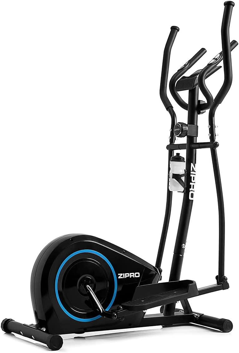 ZIPRO Bicicleta elíptica magnética Burn hasta 120 kg, una Masa oscilante de 8 kg, Unisex Adulto, Negro, Talla única
