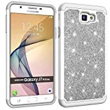 2016 Galaxy J7 Prime Case, Luxury 2 in 1 [Dual Layer] Cover Hybrid Full-Body Shockproof Bling Sparkly Hard PC Soft Silicone Phone Case for Samsung Galaxy J7 Prime (2016)/ On7 (2016)(Hard-02)