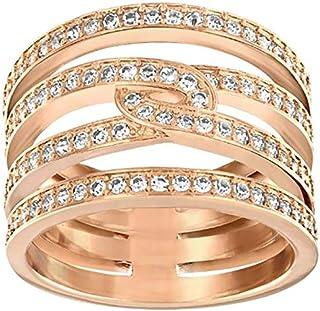 Swarovski Creativity Rose Gold Crystal Band Ring - Size 18.15 mm