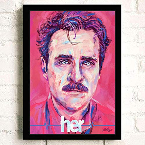 lubenwei Her Joaquin Phoenix Classic Movie Wall Art Home Decor Canvas Painting Art Nordic Decoration Bar Cafe Room Poster 40x60cm No frame (WA-2286)