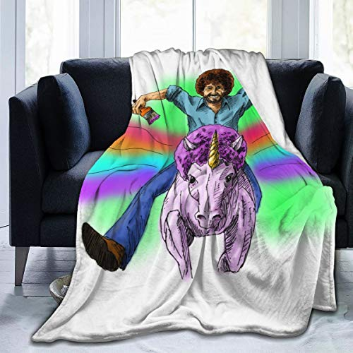Otikiu B-ob Art Ro-ss Throw Blanket Ultra Soft Lightweight Bed Quilt Home Decor Fleece Blanket Sofa Carpet for Men Women Kids,60'' X50