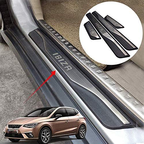 Para Seat Ibiza Fr Tgi 2015-2020 Protector de umbral de puerta de coche, Pedal de bienvenida de acero inoxidable con borde de puerta de coche con la palabra