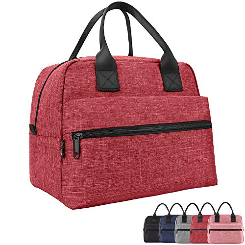 Lunch Bags For Women&Men Insulated Lunch Box For Lunch Cooler Tote(Red)