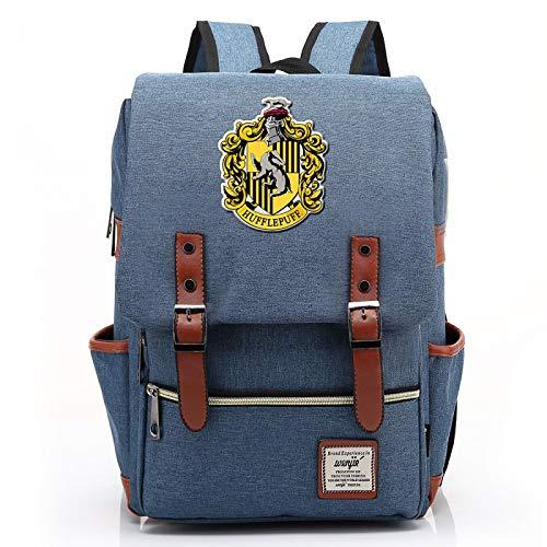 Mochila de Harry Potter para nias, nios, Mochila Ligera, Paquete para Estudiantes de 7~15 Grados, Hufflepuff Blue