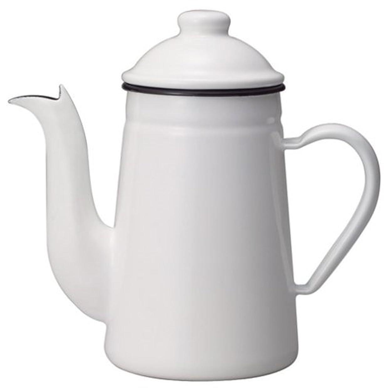 列挙するビーズ保護カリタ コーヒーポット ホーロー製 コーヒ-達人 ペリカン 1L ホワイト #52125