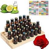 Songlela Espositore per Olio Essenziale, 30 Bottiglia Display Stand in Legno per Esposizione di Oli Essenziali, Smalto di Unghie Rastrelliera Supporto per Rossetto Organizzatore di Stoccaggio #4