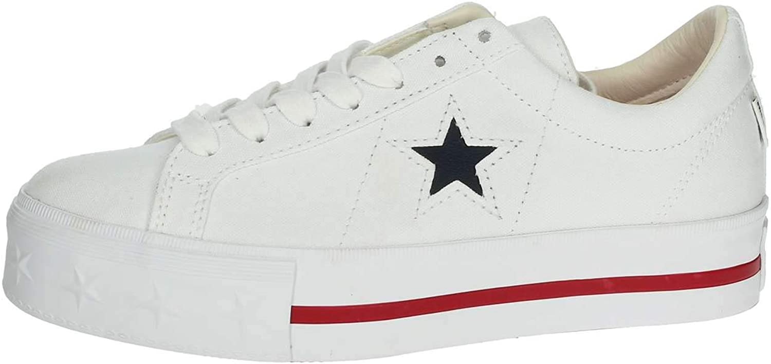 CONVERSE shoes woman low sneakers with platform 564030C ONE STAR PLATFORM OX size 36.5 White