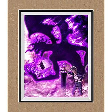 Amazon Com Black Clover Anime Fan Art Gallery Evil Asta Digital Premium Canvas Paper Art Prints Poster For Bedroom Decoration Children Gift 8 X 10 Inches No Frame Furniture Decor