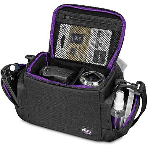 Medium Camera Bag by Altura Photo Mirrorless & DSLR Camera Bag for Nikon, Canon, Sony, Fuji, Compact Camera Shoulder Bag, Portable Camera Bags for Photographers - DSLR Bag / Digital Camera Case