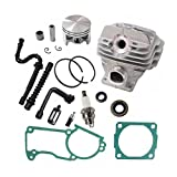 HURI Cylinder with Piston Kit Gasket Oil Seal Spark Plug Fuel Line Oil Line for Stihl MS260 026 Chainsaw 44mm