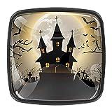 Creepy Halloween 1 – 01 tirador de perilla de cajón Gabinete de baño, aparador y armarioSet de 4