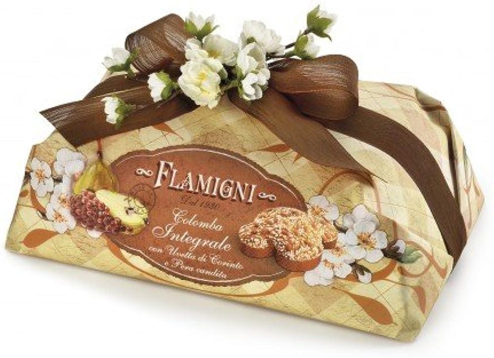 Flamigni, colomba pasquale integrale da 1 kg,artigianale,con cubetti di pera williams semicandita e uvetta gre