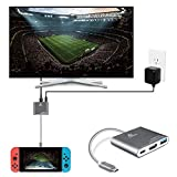 TNP Switch TV Dock Portable Adapter Hub, USB Type C to HDMI Travel Dongle Docking for Nintendo Switch, Universal Compatibility with Samsung Dex Station Mac Book Pro Projector Monitor