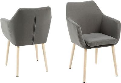 AC Design Furniture Nora Fauteuil en chêne Gris Clair