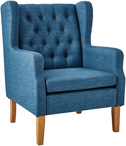 Amazon Brand – Ravenna Home Margaret Modern Living Room Chair, 28'W, Blue