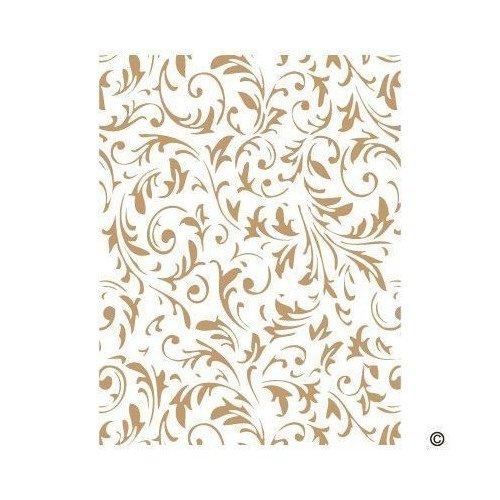 TODO-STENCIL Deco Fondo 079 Floral, Medidas 20 x 30 cm - Diseño 17 x 22 cm