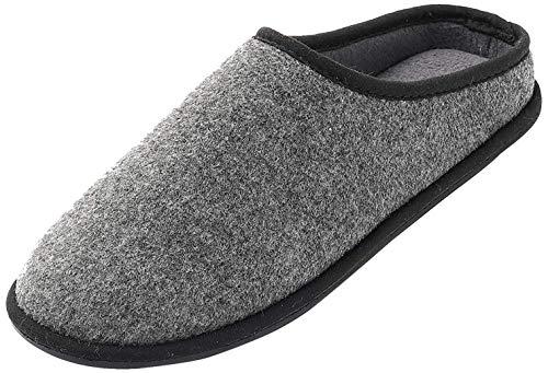 FLY HAWK Filzpantoffeln für Männer, Hausschuhe mit weichem Fußbett Filzlatschen Herren Bequeme Pantoffeln Pantoletten Slipper Warm Gr. EU 41 bis 46