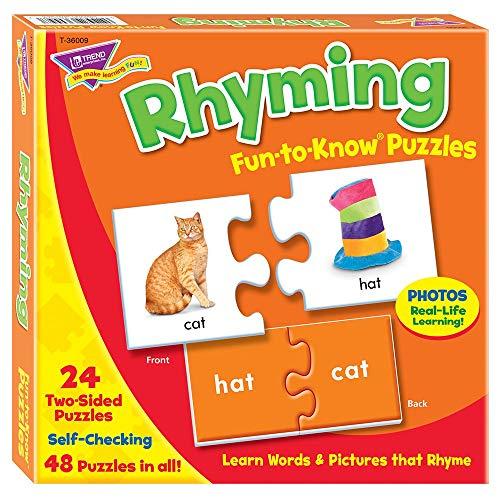 Fun to Know Bloc de 48 Feuilles de Papier 333 g Rimes Puzzles, Blanc