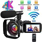 Videocamera Videocamere Ultra HD 4K Videocamera Digitale Full HD IR Visione Notturna WiFi Vlogging...