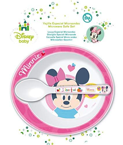 Winnie The Pooh - Set Microondas 2 Piezas Disney Baby Minnie rosa