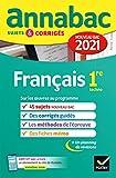 Annales du bac Annabac 2021 Français...