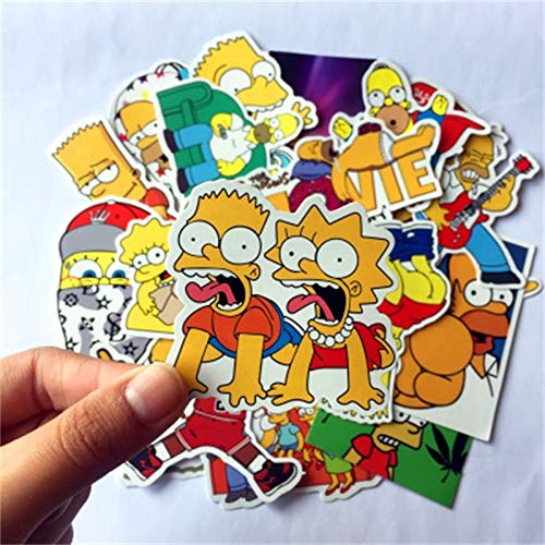 Cartoon Simpson Series Hybride Notebook Pc koffer Skateboard Fiets Motorfiets Diy Waterdichte Sticker 25 stks/partij