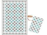 Granitec Alfombra de Vinil. CREA una decoración Moderna, única y con Mucha Personalidad. Son Muy Resistentes, antialérgicas, e Impermeables. Medida 118x160x0,2cm. Más una de Regalo de 47x67cm.