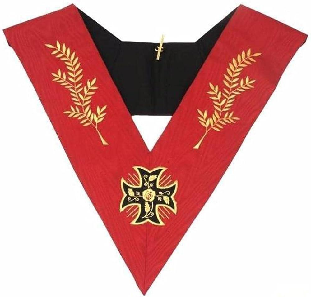 Masonic AASR collar 18th degree - Knight Rose Croix - Croix pattée + Acacia Branches