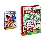 Hasbro Gaming - Indovina Chi? Travel (Gioco In Scatola), B1204103 [Versione Italiana] & Monopoly - Travel,...