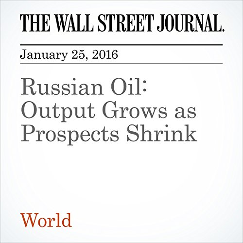 Russian Oil: Output Grows as Prospects Shrink audiobook cover art