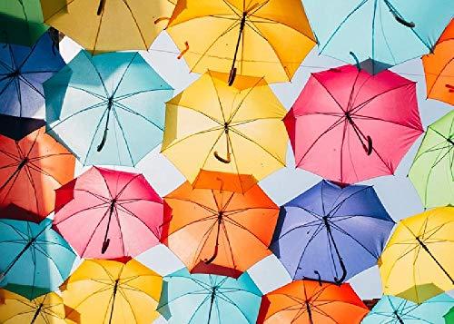 gongyu12 Sombrillas De Colores Bajo El Sol, Rompecabezas 1000 Piezas Paisaje De Descompresión para Adultos Súper Difícil Regalo Grande Hecho A Mano Juguetes Educativos para Niños
