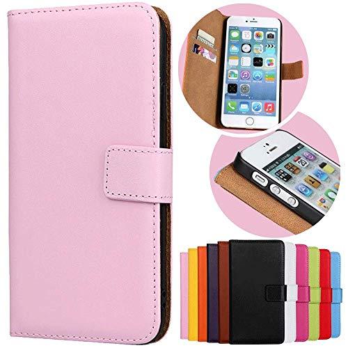 Roar Handy Hülle für HTC One M8, Handyhülle Rosa, Tasche Handytasche Schutzhülle, Kartenfach und Magnet-Verschluss