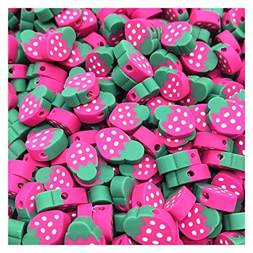 MURUI NTZ 30 unids/Lote 10 mm Beads de Frutas Polímero Clay Beads Color Mezclado Polmer Polmer Spacer Beads para joyería Fabricación de Bricolaje Collar de Pulsera Yc0506 (Color : 04)