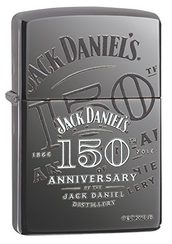 Zippo Jack Daniel Distillery 1866-2016-Black Ice with Color Image-150 Years Feuerzeug, Chrom, 5.8 x 3.5 x 2 cm
