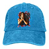 Yuanmeiju Gorra de Mezclilla Nev eCam pbe llScr eam Breathable Heat Resistant Wrinkle Resistant Adjustable Caps Trucker Hats Blue