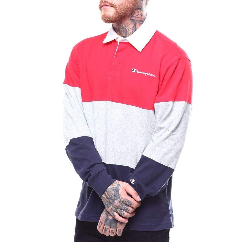 母音ずっと軽減(チャンピオン) Champion メンズ トップス ポロシャツ colorblock rugby shirt [並行輸入品]