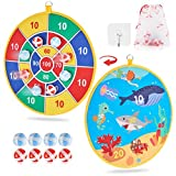 Dart Board Game for Kids with 8 Sticky Balls, Safe Classic Dartboard Set, Christmas Dart Games Gift for Boys Girls -13.5 Inches