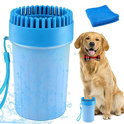 Haustier Pfotenreiniger, 2 in 1 aktualisierte Version Hunde Pfotenreiniger, Tragbare Haustier...