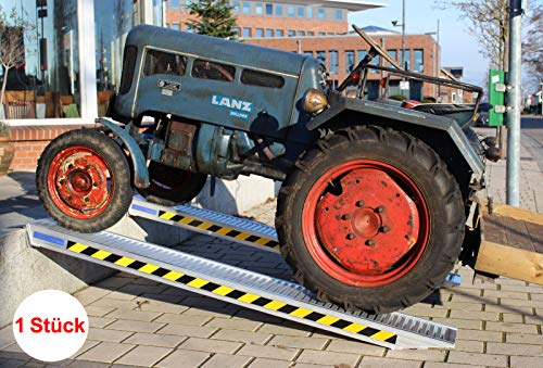 TrutzHolm® Profi Alu Auffahrrampe ca. 255 cm | 1650 kg pro Stück | 3300 kg pro Paar | Verlade Rampe Verladerampen Auto (1 Stück)